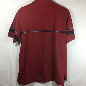 Tommy Hilfiger Shirts - Tommy Hilfiger Red Stripe Detail Pique Polo Shirt